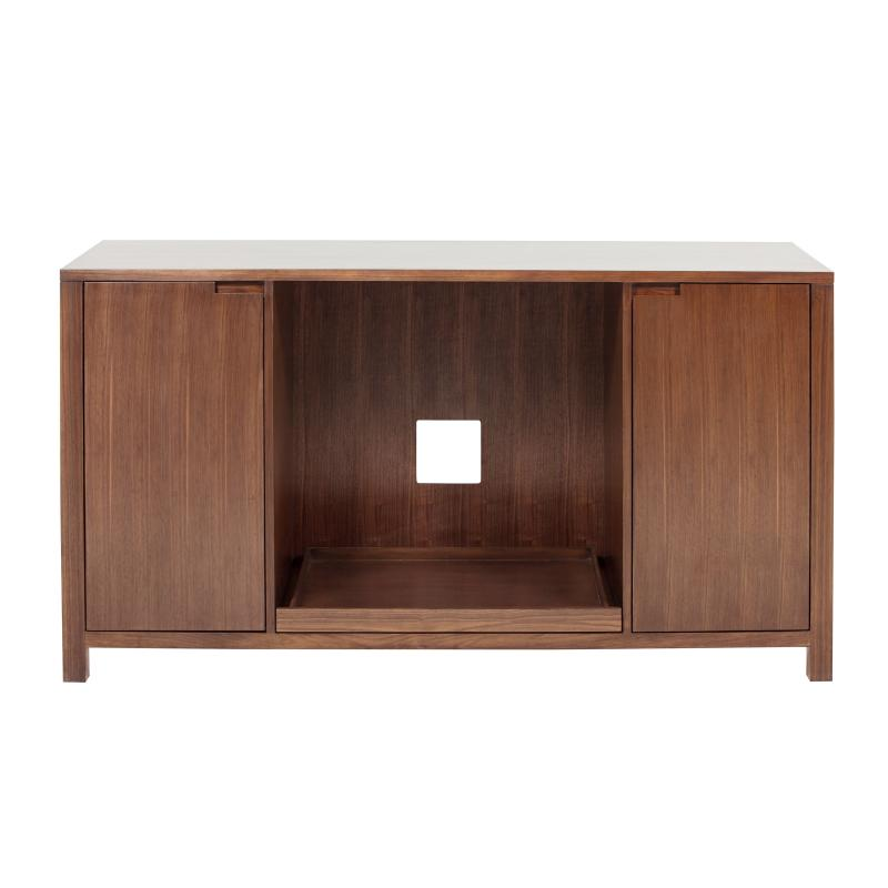 Wood console with 4 doors & shelves hotel furniture