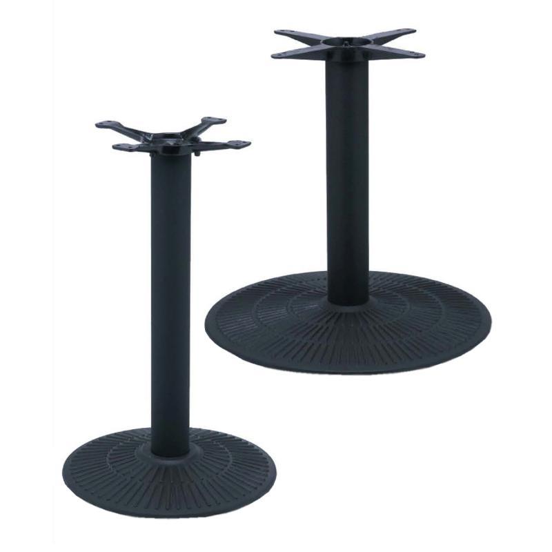 Black restaurant table base restaurant furniture